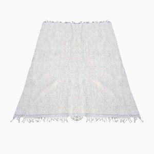 Vintage White Beni Ouarain Carpet