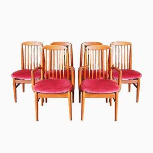 Esszimmerstühle von Preben-Schou, 1960er, 6er Set
