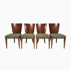 Sedie da pranzo Art Deco di Jindřich Halabala, anni '40, set di 4