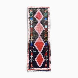 Vintage Berber Boucherouite Corridor Carpet