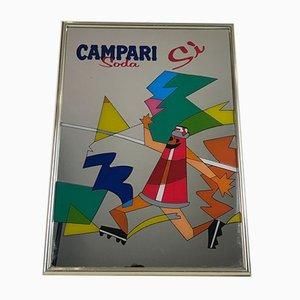Vintage Italian Campari Soda Sì Advertising Wall Mirror, 1980s