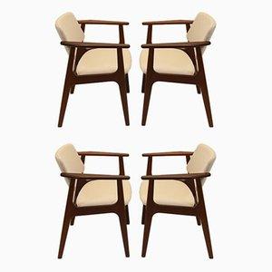 Esszimmerstühle von Arne Vodder, 1966, 4er Set