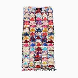 Vintage Berber Boucherouite Carpet