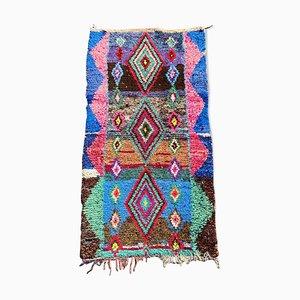 Tappeto Boucherouite berbero vintage