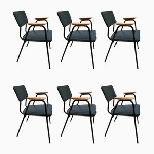 M Armchairs by Pierre Guariche for Meurop, 1960s, Set of 6