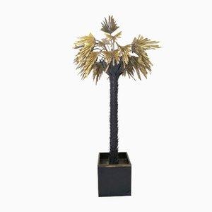 Lampada a forma di palma di Christian Techoueyres per Maison Jansen, anni '70