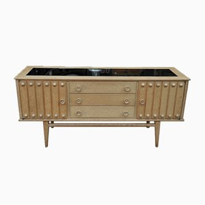 Oak Cabinet with 2 Doors & 3 Drawers