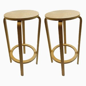 Model 64 Barstools by Alvar Aalto for Artek, Finland, 1940s, Set of 2