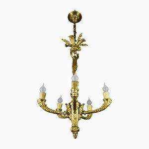 Antiker Bacchus Kronleuchter aus Bronze im Louis XV Stil aus Bronze