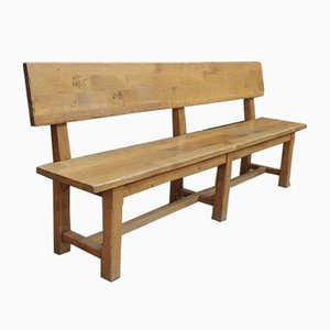 Solid Oak Bench, 1950s