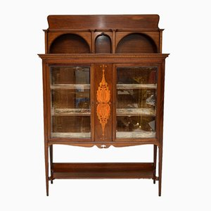 Antique Art Nouveau Inlaid Mahogany Cabinet Liberty of London