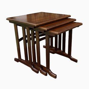 Mahogany Nesting Tables, 1950s, Set of 3