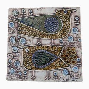 Vintage Swedish Ceramic Tile by Lisa Larson for Gustavsberg, 1960s