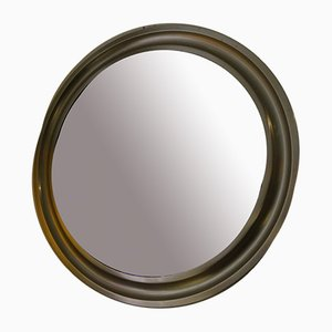 Vintage French Stainless Steel Mirror, 1970s