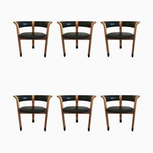Modell 4551 Esszimmerstühle von Thygesen & Sørensen für Magnus Olesen, 1970er, 6er Set