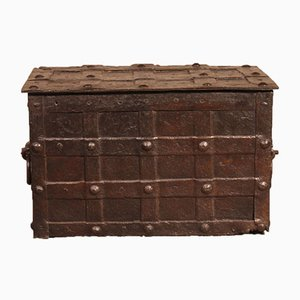 17th-Century Nuremberg Wrought Iron Pirate Chest