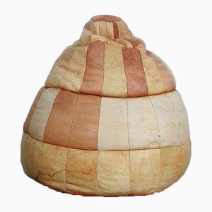 Puf de cuero de de Sede, años 70