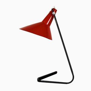 Lampada da tavolo asimmetrica nera e rossa di Josef Hurka per Napako, anni '60