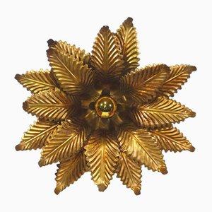 Applique vintage a forma di fiore in ottone