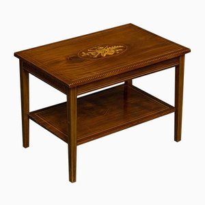 Tavolino da caffè edoardiano in mogano