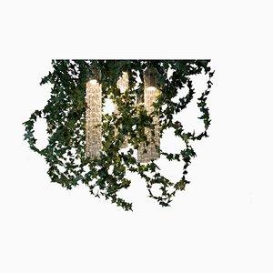 Flower Power Deckenlampe aus Muranoglas & künstlicher Efeu Girlande von Vgnewtrend