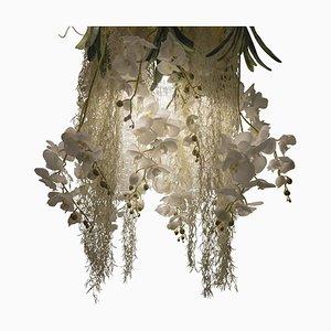 Flower Power Deckenlampe aus Muranoglas & künstlichen Orchideen von Vgnewtrend