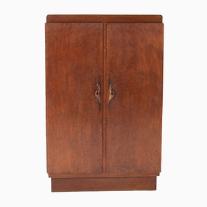 Art Deco Amsterdam School Burlwood Armoire from 't Woonhuys Amsterdam