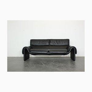 Funktionelles schwarzes Leder DS 2011 Relaxsofa von de Sede, 1990er