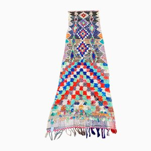 Tappeto Boucherouite vintage berbero colorato