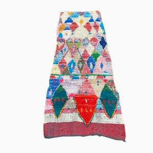 Alfombra Boucherouite bereber vintage grande de colores