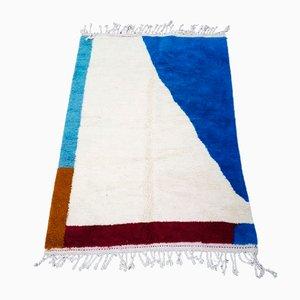 Tapis Beni Ouarain Berbère Bleu Vintage