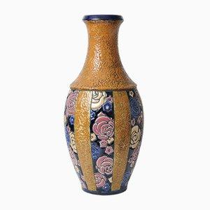 Art Deco Keramik Vase von Amphora, 1920er
