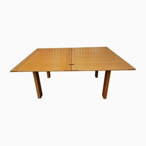 Vintage Italian Extendable Table in Birch Wood from Ibisco, 1960s