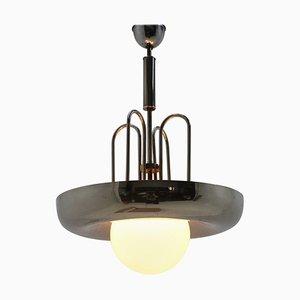 Bauhaus Chrome Pendant Lamp, 1930s
