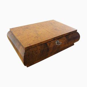Art Deco Wood Jewelry Box, Germany, 1920s