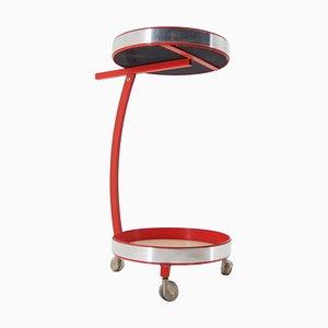Mid-Century Bar Cart with Opaxite Glass, Czechoslovakia, 1960s
