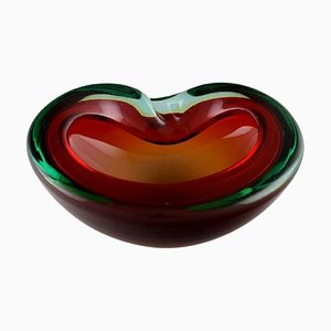 Italian Murano Bowl in Mouth Blown Art Glass, 1960s