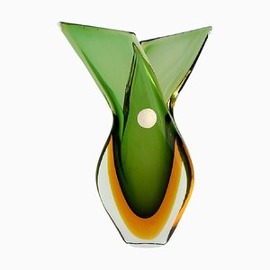 Italian Murano Vase in Mouth Blown Art Glass, 1960s