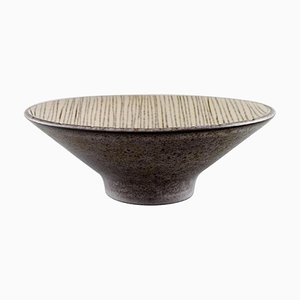 Modern Glazed Stoneware Bowl by Mari Simmulson for Upsala-Ekeby
