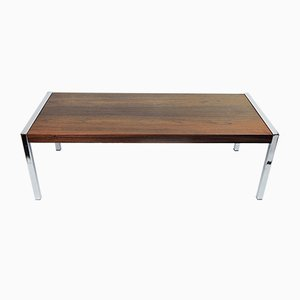 Rosewood and Chrome Coffee Table by Richard Young for Merrow Associates, 1970s