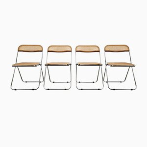 Plia Folding Chairs by Giancarlo Piretti for Castelli, 1960s, Set of 4