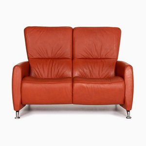 Orange Leather Cumuly 2-Seat Sofa from Himolla