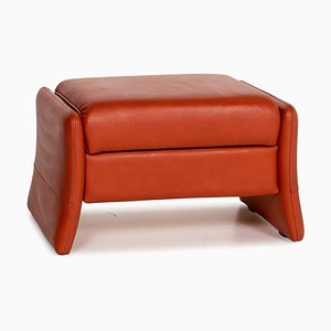 Orange Leather Cumuly Ottoman from Himolla