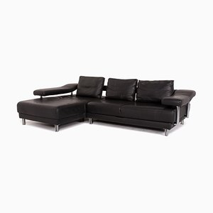 Anthracite Grey Leather Corner Sofa from Musterring