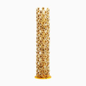 Gold-Plated and Crystal Floor Lamp by Palwa, 1960s