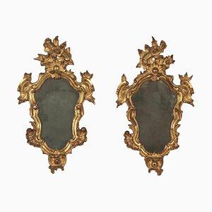 Specchiere Barocchetto in stile mercurio, Italia, XVIII secolo, set di 2