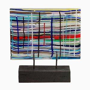 Scultura Piastra in vetro di Leonardo Cimolin