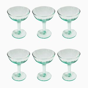 Champagne Coupes, Set of 9