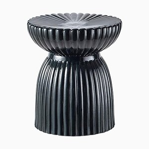 Glossy Ceramic Stool/Guéridon by Thomas Dariel