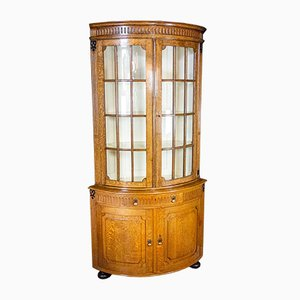 Corner Cupboard Showcase with Lighting Lamp, 1800s